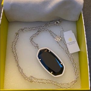 NEW Kendra Scott Rae necklace -  black/silver